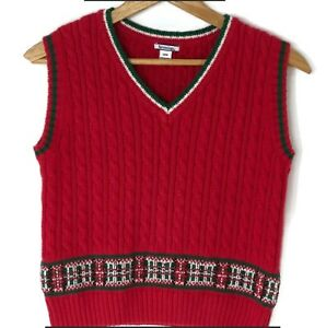 Hartstrings cable knit Christmas Holiday sweater vest Boys ...