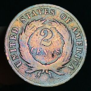 1870-US-Two-Cent-Piece-2C-High-Grade-Details-Civil-War-Era-US-Copper-Coin-CC3497