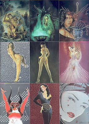 """COMIC IMAGES SUPREME"" FANTASY ART FOIL CARD SET LINSNER, OLIVIA, ROYO, SORAYAMA"