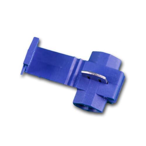 Connettore Rapido 100 elettricità ladri RACCORDO a Y connettori blu per 1,5-2,5mm² trefolo Cavo