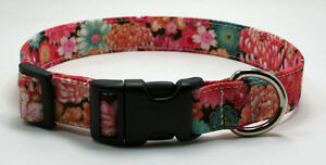 Oriental-Floral-Dog-Collar-Adjustable-Handmade-Custom-Designer