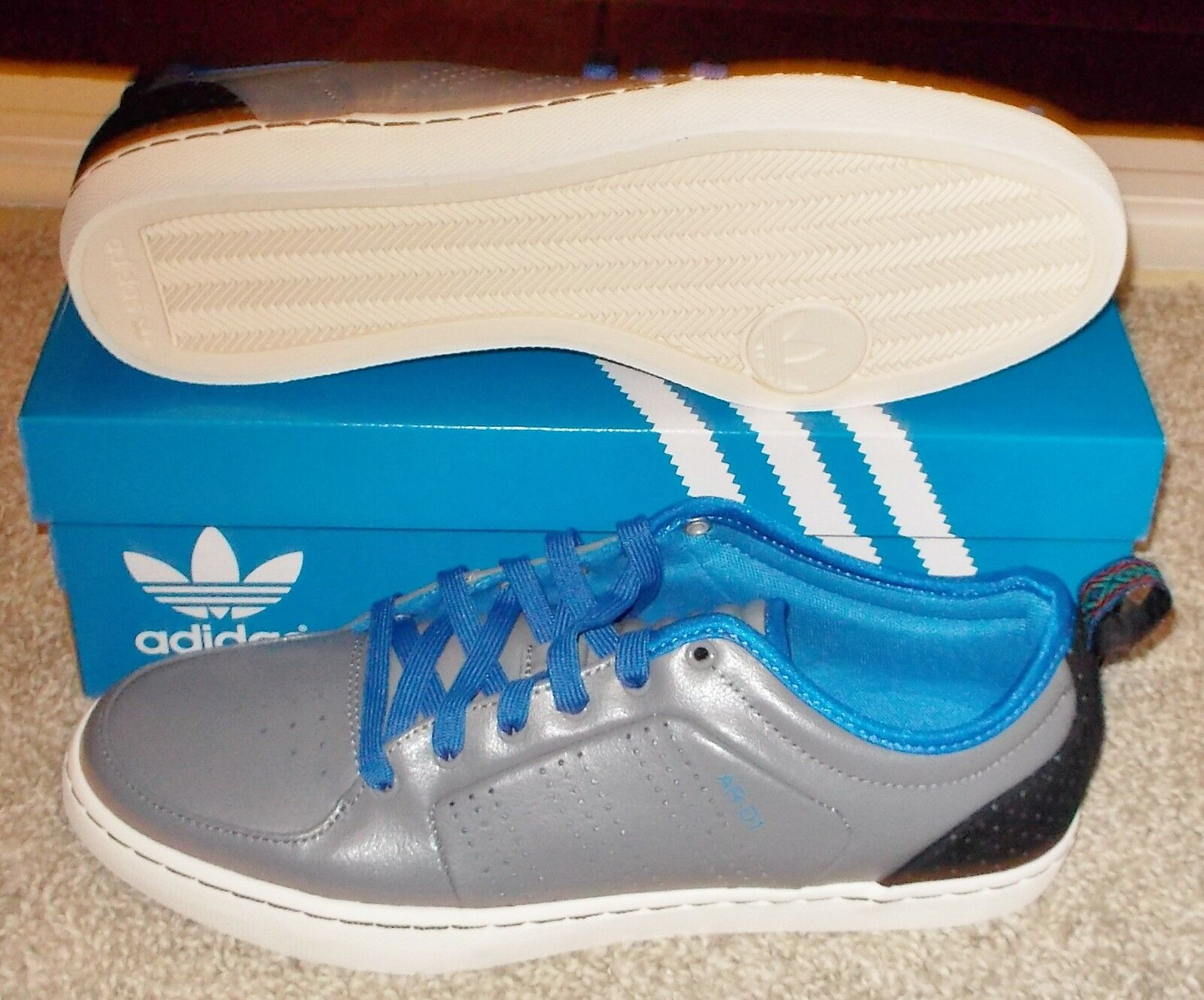 NEW MENS ADIDAS ARD1 LOW Originals MENS NEW Grey trimm trab rom LTD vintage NIB NR a720ea