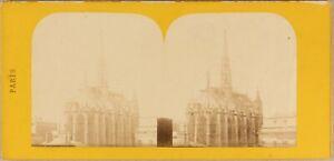 Francia Parigi La Sainte Chapelle Ca 1870 Foto Stereo Vintage Albumina