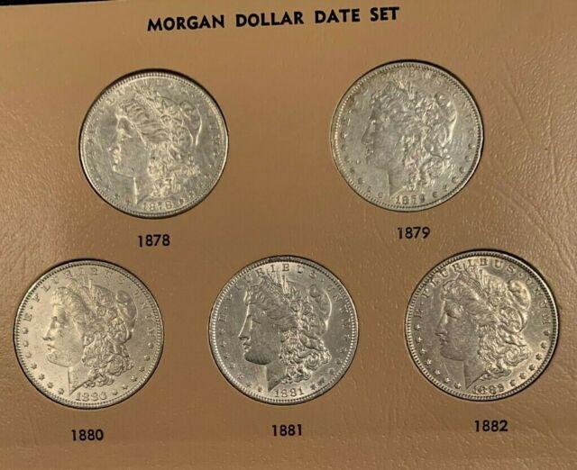 New Whitman Album MORGAN SILVER DOLLARS 1878 TO 1921 COMPLETE Coin 4 Folder SET