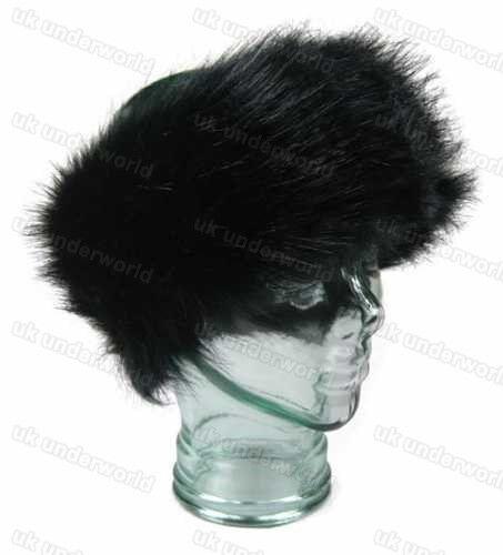Ladies Girls Large Thick Faux Fur Headband Earwarmers Ear Muffs Winter Warm Hat