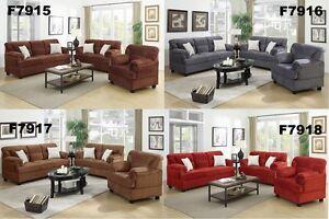 Microfiber Living Room Furniture 3 Pc Sofa Set Sofa Loveseat ...