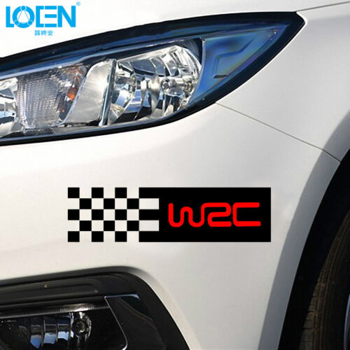 Car-styling WRC Sticker Vinyl Car Body Decal Stickers Red Black Silver 2pcs//set