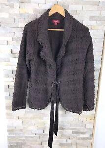 taille 14 en Manteau brun laine femmes Monsoon de pour mélange Hw0n8nqgSa