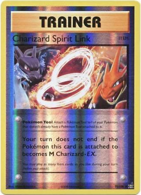 Holo Pokemon NM//M Non - XY Evolutions 75//108 4x Charizard Spirit Link