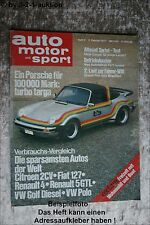 AMS Auto Motor Sport 3/77 Porsche Turbo Targa 2 CV R5 VW Golf Diesel