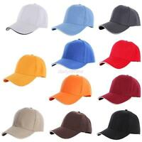 Men casual hat baseball Gym cap Women ball Blank Plain caps adjustable size hats