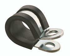 RUBBER LINED 'P' CLIPS SIZE 21MM ZINC PLATED x 50
