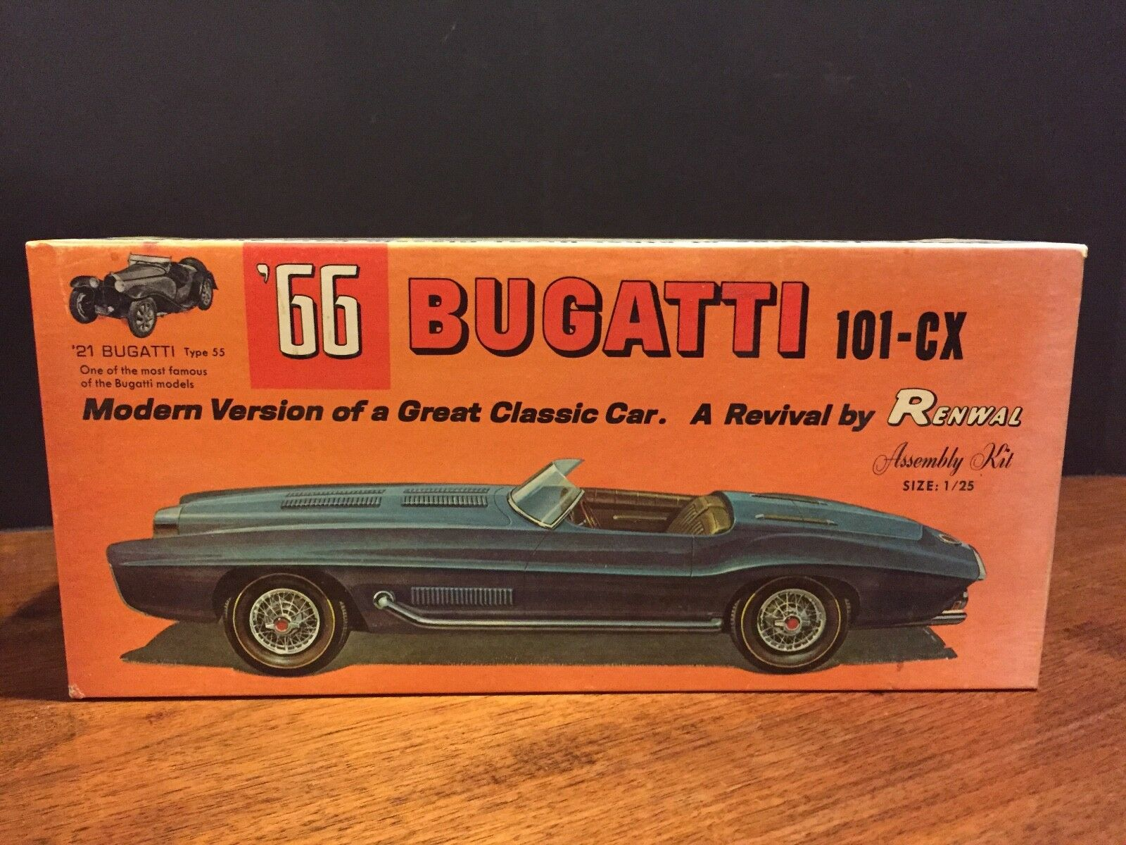 Renwal '66 Bugatti (101-CX) Revival Super Rare 1964 Original 1 25 model BOX ONLY