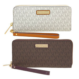Michael Kors Jet Set Continental Wristlet - Choose color