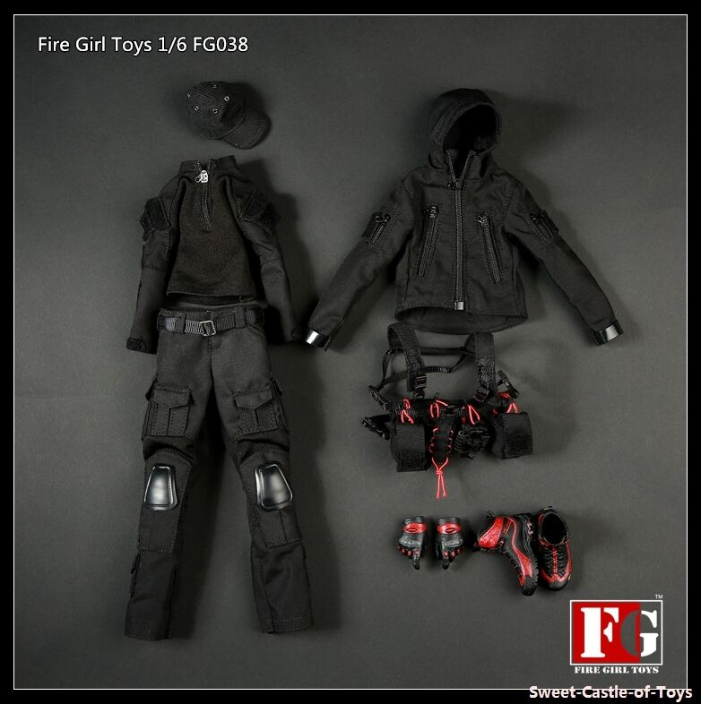 1 6 Fire Girl Toys FG038 Female Dark Night Gunner Uniform Set For DAM Hot Toys