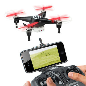 NINETEC-Spyforce1-Video-Drohne-Live-Ubertragung-Smartphone-Kamera-Quadrocopter