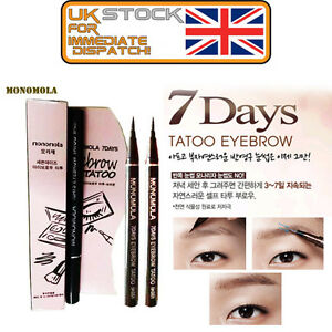 Monomola 7 days eyebrow tattoo pen liner long lasting for Eyebrow tattoo pen