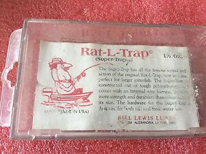 FT3 Vitnage Bill Lewis Lures Rat L Trap Super trap plastic box