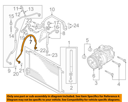 AUDI OEM 15-17 A3 Air Conditioner-Discharge Hose 5Q0816721AG