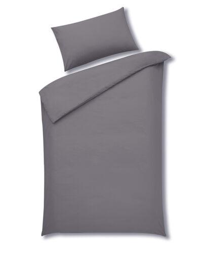 Multiple Sizes Available Sleepscene Cotton Rich Duvet Set in Grey