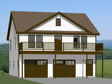 30x32 House -- 2 bedroom 1.5 Bath -- 986 sqft -- PDF Floor Plan -- Model 1I