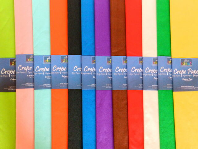 Coloured Crepe Paper for Arts and Craft 3m x 0.5m
