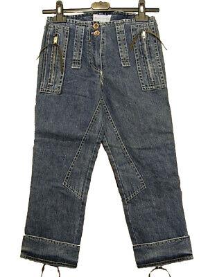 Jeans Capri Donna Monkey Temple Tg. W24 It 38 Denim Vintage Original New Comodo E Facile Da Indossare