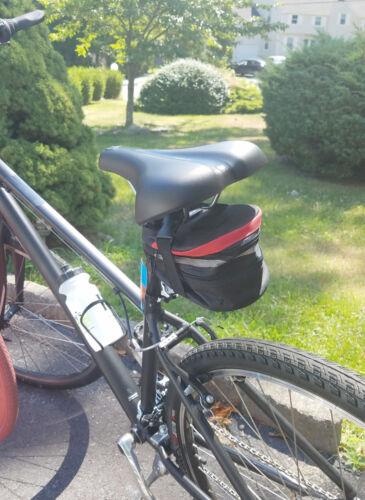 Clutch Bike Saddle Bag Bicycle Bag Storage Cycling Expandable Zippered