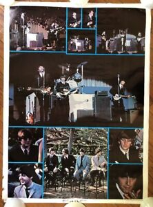 The Beatles Original Vintage Poster Music Pinup 1976 One
