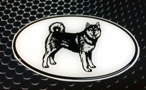 "Husky Sticker White Oval Dog Puppy Domed Vinyl Decal 3D 4.25/""x 2.25/"" Siberian"