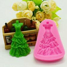 Women Wedding Dress Skirt Fondant Mold Silicone Cake Decorating Embossing moulds