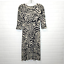 miniature 3 - Diane von Furstenberg Silk Dress Sz 2 Zebra Print 3/4 Sleeve V Neck Sheath