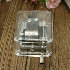 DIY Hand Crank Antique Mechanical Musical Music Box Gift For Canon SE