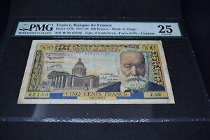 PMG Graded France, Banque de France p133b 1957 500Francs VF25 Banknote
