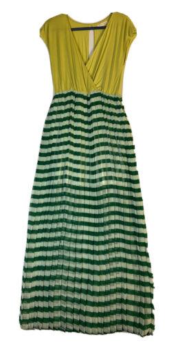 JEALOUS TOMATO Womens Color Block Neon Green Strip
