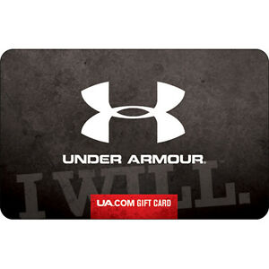 2b3116a54f Under Armour Gift Card - $25 $50 or $100 - Email delivery | eBay