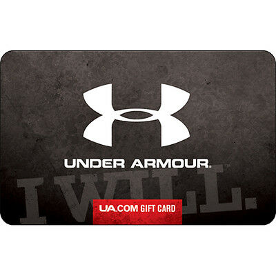Under Armour Gift Card - $25 $50 or $100 - Email delivery