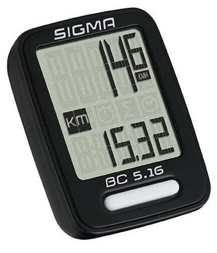 Sigma BC 5.16 Wired Bicycle Computer Speedometer 5-Funktionen - 05160