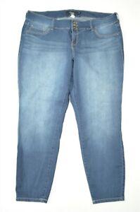 Torrid 22 Skinny Ankle Jegging Plus Dark Wash Stretch Denim Jeans