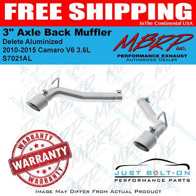 2010-2015 Chevrolet Camaro V6 3.6L 3in Alum Axle Back Muffler Delete MBRP NEW
