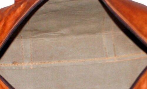 Dakota large en cuir marron goathide Carry-On Duffle Weekend Bagage Sac Voyage