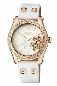Rebel-Women-039-s-RB111-8021-Gravesend-Crystals-Puzzel-Piece-Dial-Leather-Watch