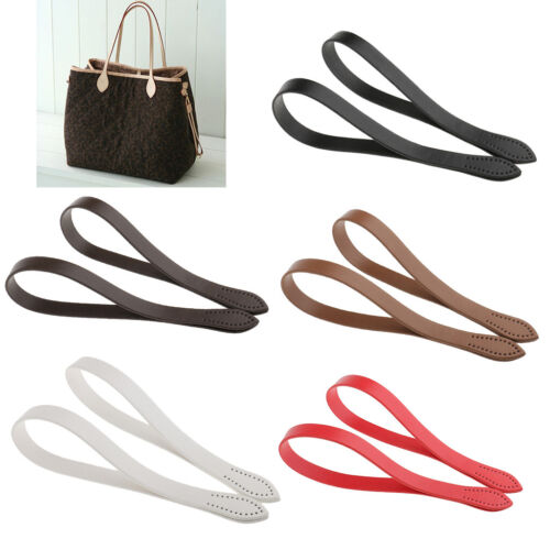 2pcs Black PU Leather Handle Shoulder Bags Handbag Straps Replacements 60cm