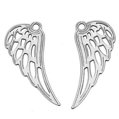 A Pair of Sterling Silver Angel Wings Charm Penadnt PK1 PK5