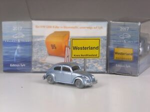 Wiking-C-amp-I-Sondermodell-VW-1200-Kaefer-in-klassischem-blaumetallic-Sylt-Edition