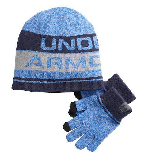 Under Armour Boys Combo 2.0 Glove Beanie-Black,One Size