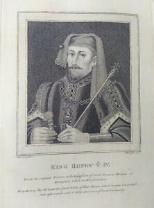 Gravure-ancienne-anglais-034-King-Henry-Y-IV-034-Harding-engraving-english-18eme
