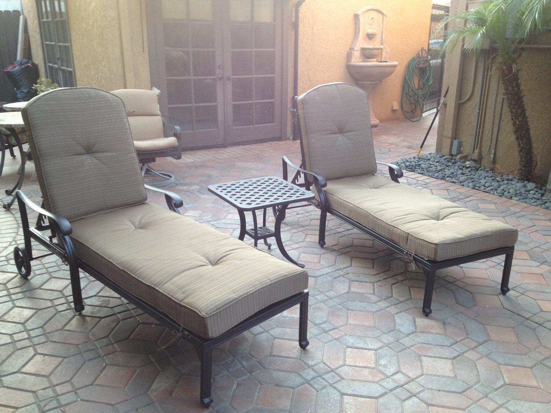 Patio End Table Outdoor Furniture 2 Side Tables Nassau Cast Aluminum Bronze For Sale Online Ebay