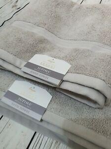 Linea Luxury Hotel Collection Supima 100% Cotton Bath + Hand Towel Mushroom