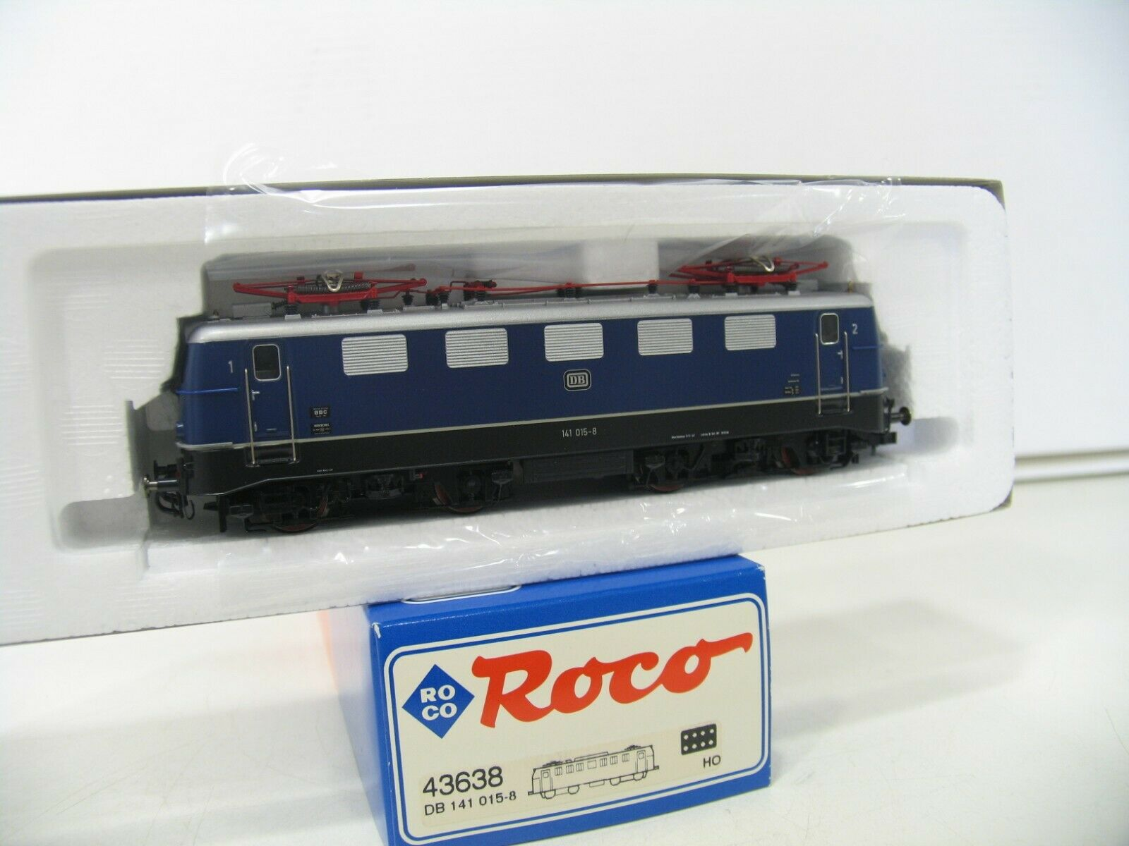 Roco 43638 e-Lok br 141 azul de la DB transformación en iluminación LED do299